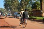 Bicycle transport along Salama road-Photo credit: Nicholas Bamulanzeki